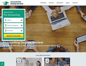 accounting-degree.org screenshot