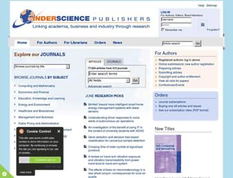 Thumbshot of Inderscience.com