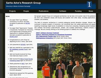 Main page screenshot of rsim.cs.illinois.edu