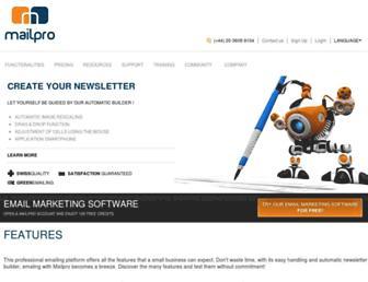 mailpro.com screenshot