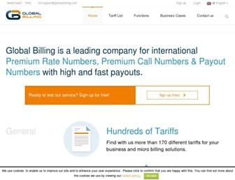 globalbilling.com screenshot