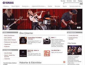 tr.yamaha.com screenshot