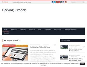 hackingtutorials.org screenshot