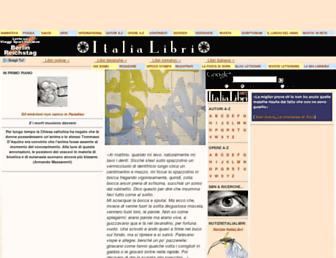 Main page screenshot of italialibri.net