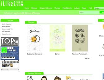 ilikesticker.com screenshot
