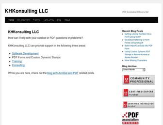 khkonsulting.com screenshot