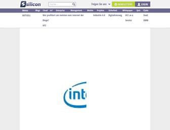 Main page screenshot of silicon.de