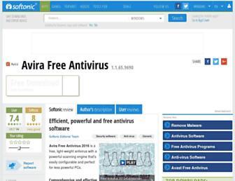 avira-free-antivirus.en.softonic.com screenshot