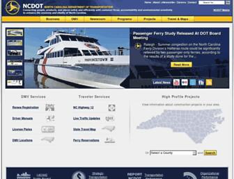 ncdot.gov screenshot