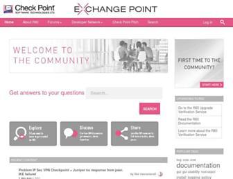 community.checkpoint.com screenshot