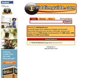 riddimguide.com screenshot