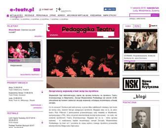 Main page screenshot of e-teatr.pl