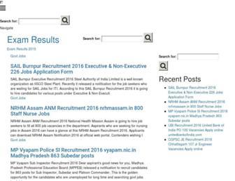 eexamresults.in screenshot