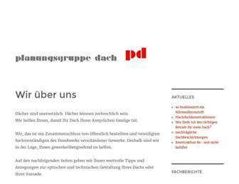 Main page screenshot of planungsgruppe-dach.de