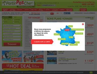 partirpascher.com screenshot