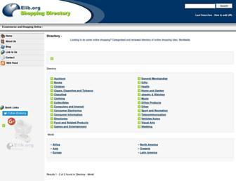 Main page screenshot of elib.org