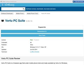 vertu-pc-suite.en.lo4d.com screenshot