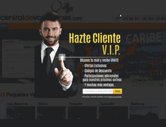 centraldevacaciones.com screenshot