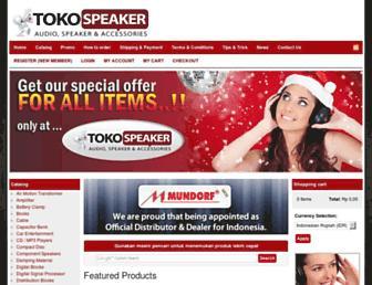 tokospeaker.com screenshot