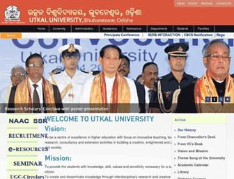 utkaluniversity.nic.in screenshot