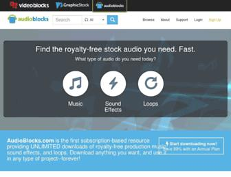 audioblocks.com screenshot