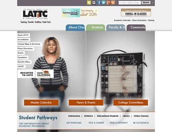 college.lattc.edu screenshot