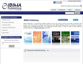 ibimapublishing.com screenshot