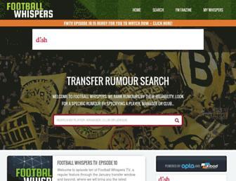 footballwhispers.com screenshot
