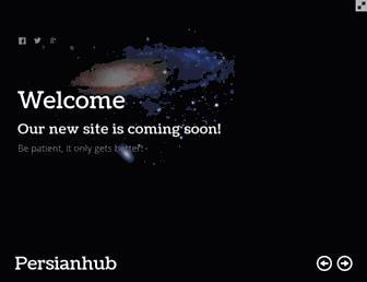Main page screenshot of persianhub.org