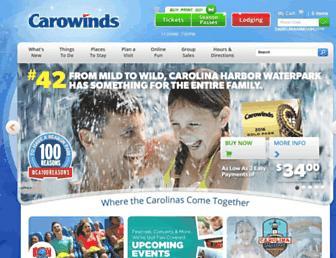 carowinds.com screenshot