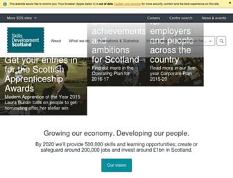 skillsdevelopmentscotland.co.uk screenshot