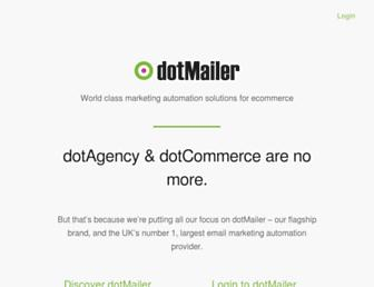 Main page screenshot of dotagency.co.uk