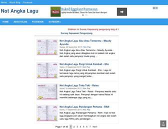 not-lagu.blogspot.com screenshot