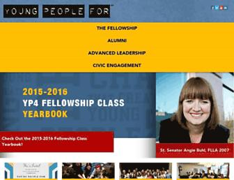 Main page screenshot of youngpeoplefor.org