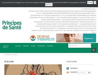 principes-de-sante.com screenshot