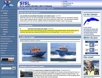 Main page screenshot of sisl.ch