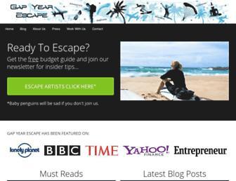 gapyearescape.com screenshot