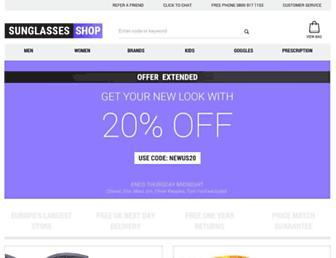 Main page screenshot of sunglasses-shop.co.uk