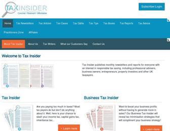 taxinsider.co.uk screenshot