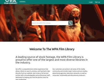 wpafilmlibrary.com screenshot