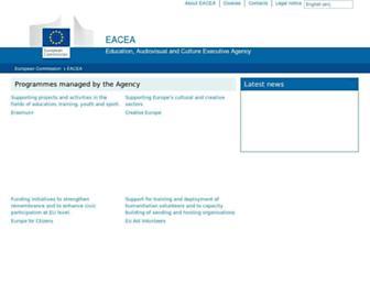 eacea.ec.europa.eu screenshot