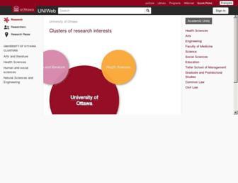 uniweb.uottawa.ca screenshot