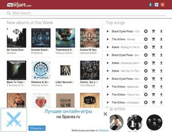 mp3viper.com screenshot