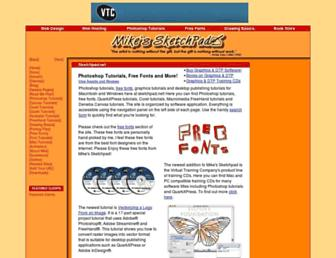 Main page screenshot of sketchpad.net