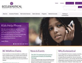 ecclesiastical.ca screenshot