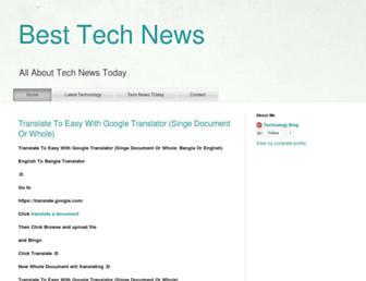 besttechnewstd.blogspot.com screenshot