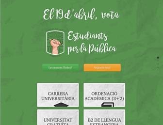Main page screenshot of universitatpublica.org