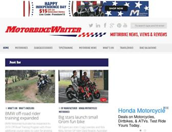 motorbikewriter.com screenshot