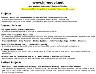 hjreggel.net screenshot