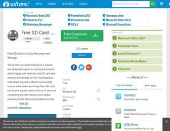 free-sd-card-data-recovery.en.softonic.com screenshot